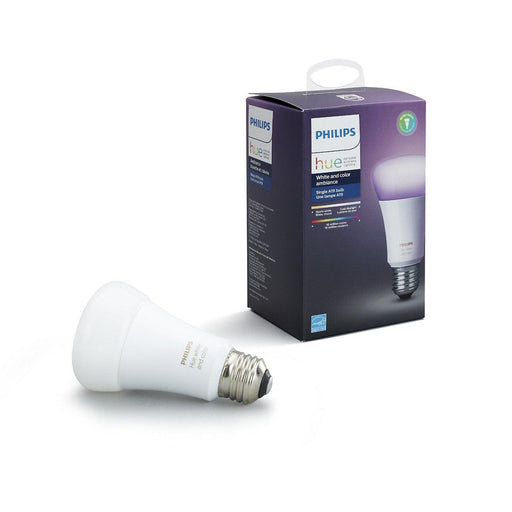 Add color to any room with a single smart bulb, which offers ranges of warm to cool white light as well as 16 million colors. Connect to the Hue Bridge to unlock the full smart lighting control and features. SKU: PHI464487 UPC: 046677464486