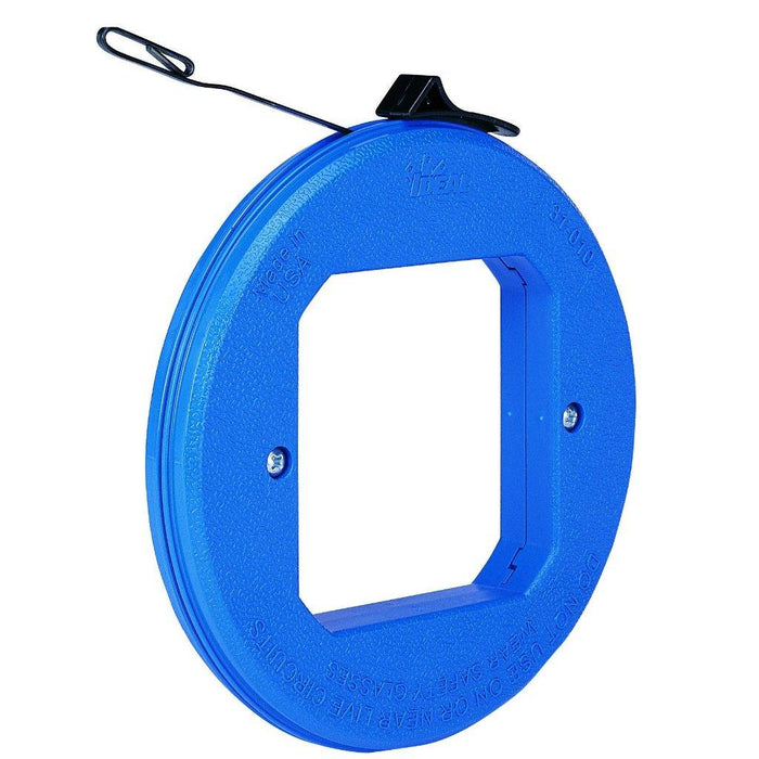 Ideal Thumb Winder Blue Steel Fish Tape is general purpose fish tape, it can pull wires through conduit, walls, floors, under carpet and over ceilings. SKU: IDE31010 UPC: 783250310104