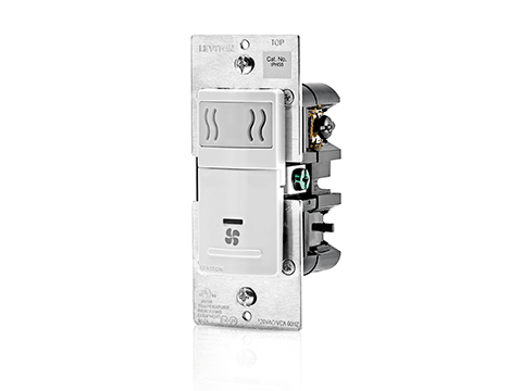 Leviton Decora In-Wall Humidity Sensor & Fan Control, Model IPHS5-742