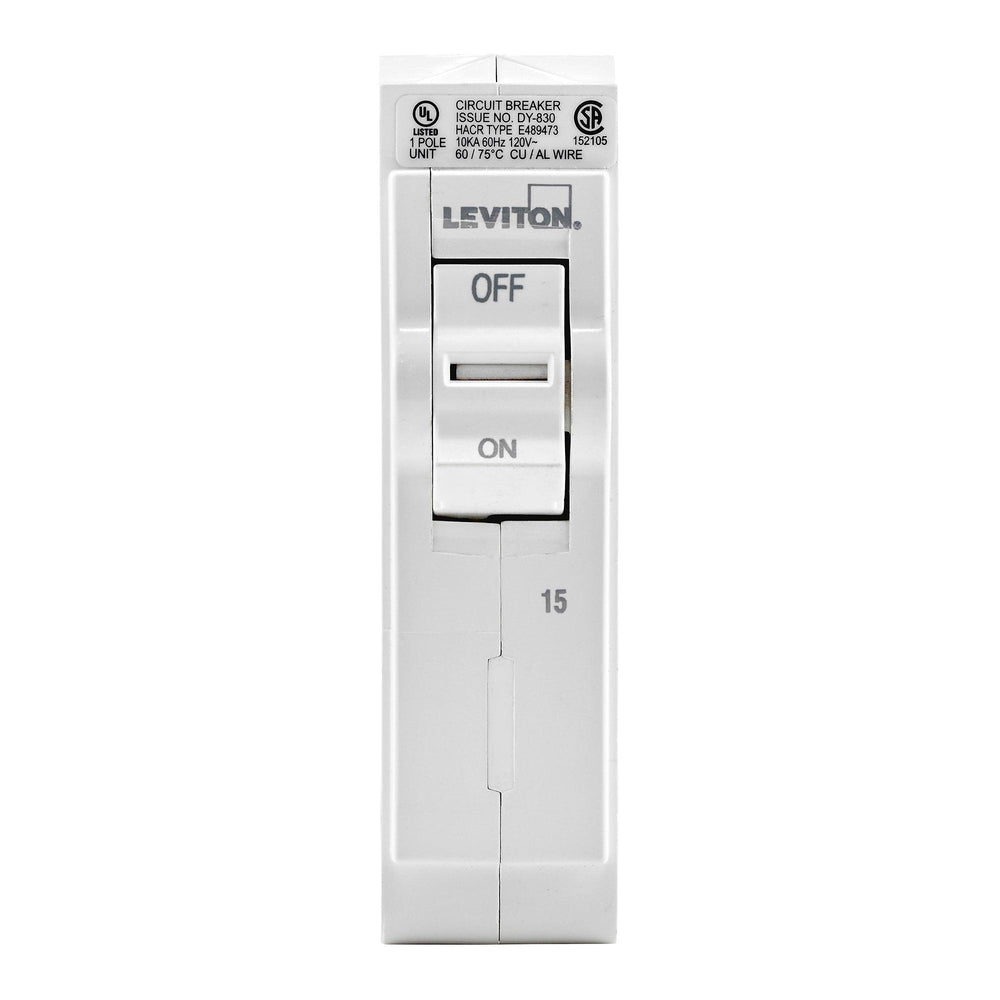 Leviton Standard Circuit breakers are engineered to the highest standards so you can feel confident with every installation. SKU# LB115000, UPC 078477814390