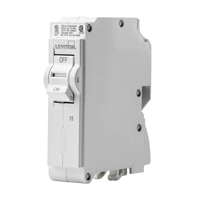 Branch circuit breakers are easily plugged-on at final installation and feature LED colour indicators in the handle so user can easily see operational status at-a-glance. SKU# LB115000, UPC 078477814390