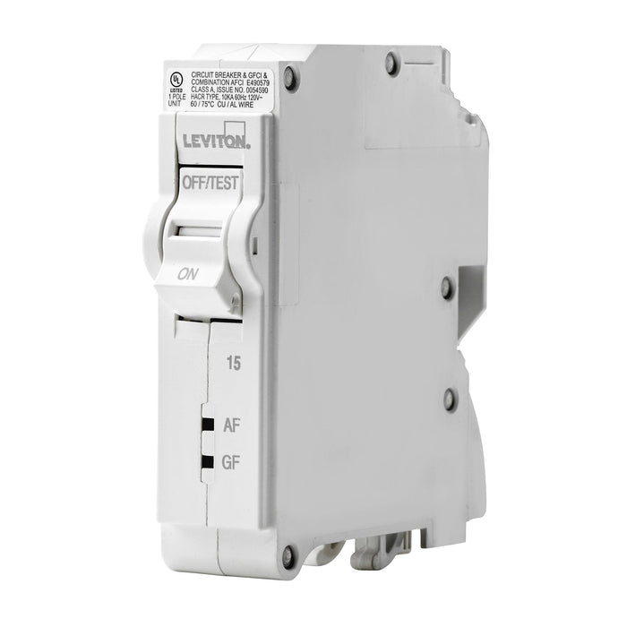 Leviton SmartlockPro Dual Function AFCI/GFCI Circuit Breakers help to create a safer living environment by offering complete protection in one smart device. If either fault is detected, the device quickly interrupts power to help avoid a potential fire or shock occurrence. 078477814611
