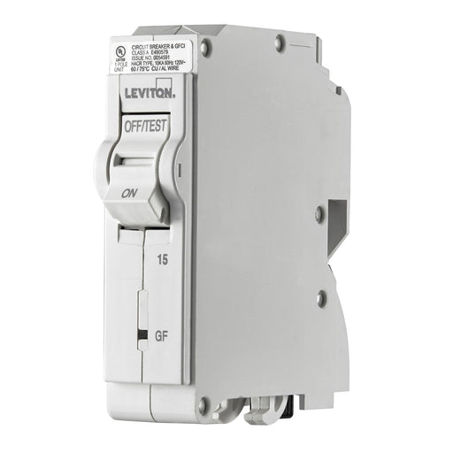 Leviton Circuit Breakers provide overload and short-circuit protection and feature an all plug-on design. GFPE circuit breakers provide protection of equipment from damaging line-to-ground fault currents by operating to cause a disconnecting means to open all ungrounded conductors of the faulted circuit. UPC: 078477814772