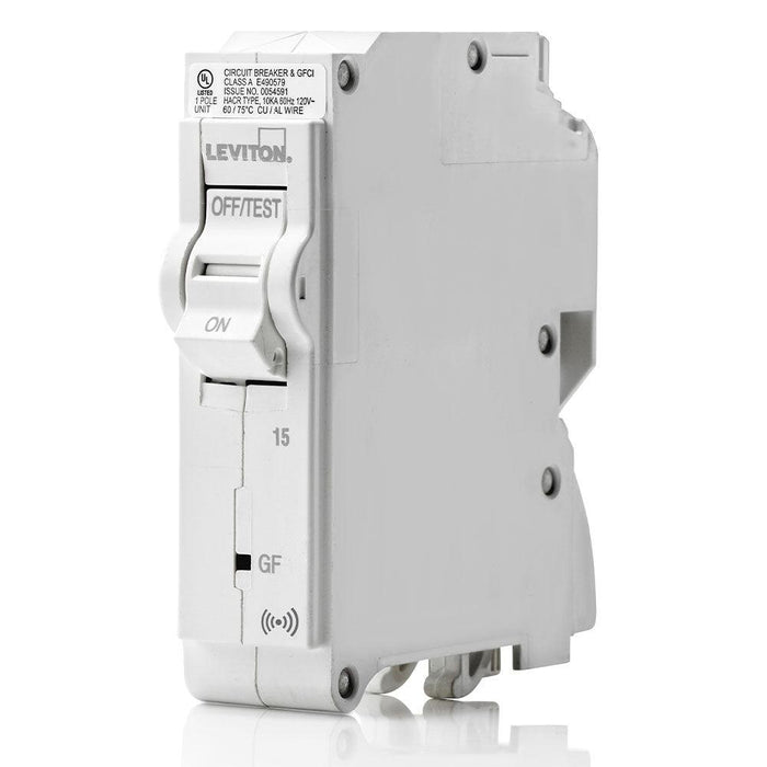 Leviton SMART 1-Pole 15A 120V GFCI Plug-On Circuit Breaker, Model LB115-748-GSR*