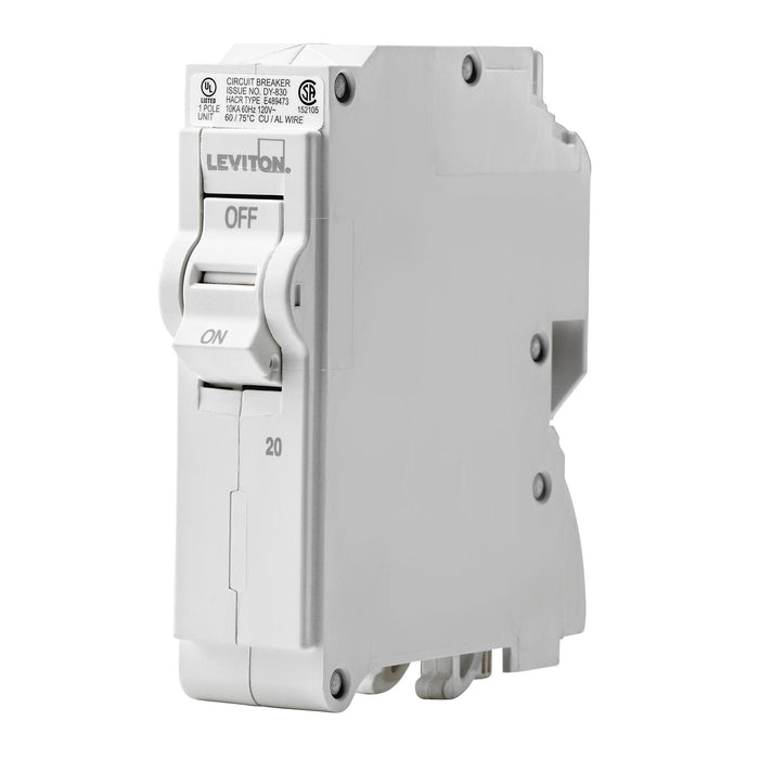 Leviton Standard Circuit breakers are engineered to the highest standards so you can feel confident with every installation. SKU#LB120, UPC 078477814505