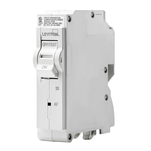 Leviton Arc-Fault Circuit Interrupter (AFCI) breakers are engineered to the highest standards so you can feel confident with every installation. Branch circuit breakers are easily plugged-on at final installation and feature LED colour indicators in the handle so user can easily see operational status at-a-glance. UPC: 078477814604