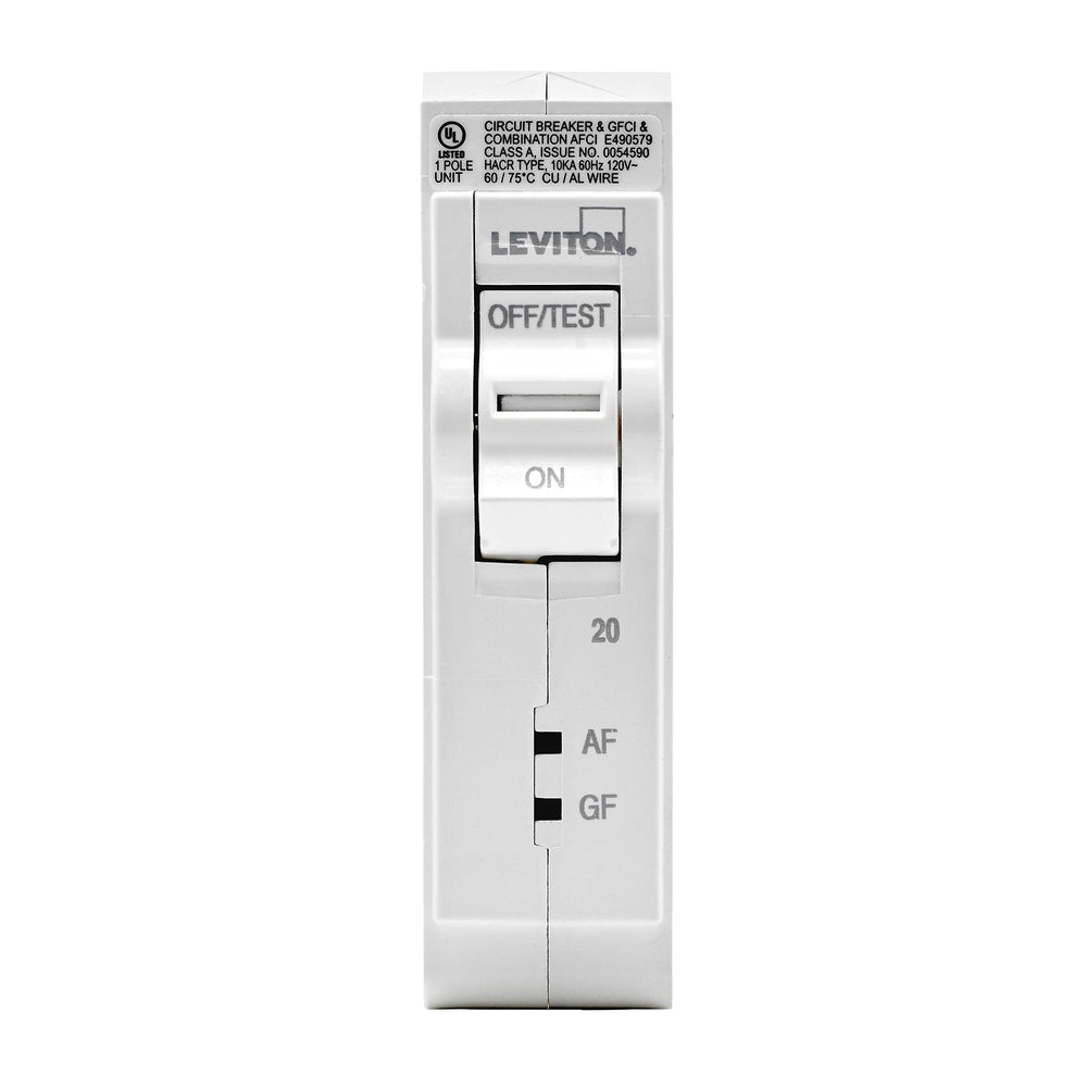 Leviton SmartlockPro Dual Function AFCI/GFCI Circuit Breakers help to create a safer living environment by offering complete protection in one smart device. If either fault is detected, the device quickly interrupts power to help avoid a potential fire or shock occurrence. UPC: 078477814581