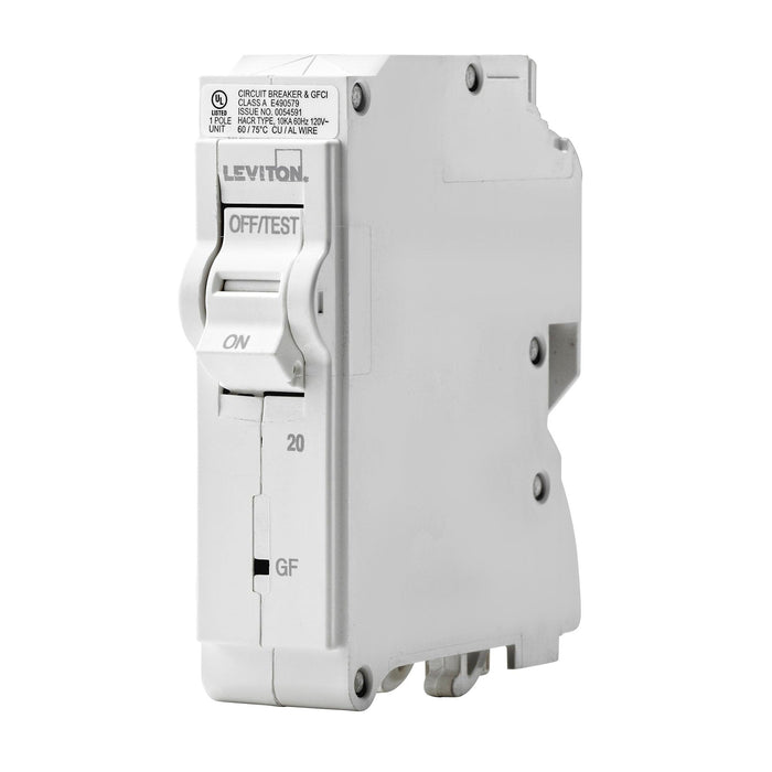 Leviton GFCI circuit breakers have reset/lockout functionality and prevent reset of the device if it is not wired or operating correctly. SKU# LB120003, LB120-GF  UPC 078477814697