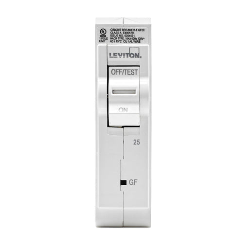 Leviton has channeled their patented technology into the development of GFCI Circuit Breakers; resulting in two industry-leading solutions to help protect against shock and electrocution. Leviton GFCI circuit breakers have reset/lockout functionality and prevent reset of the device if it is not wired or operating correctly. UPC: 078477814680