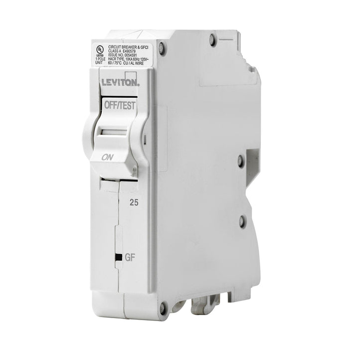 Leviton Circuit Breakers provide overload and short-circuit protection and feature an all plug-on design. GFPE circuit breakers provide protection of equipment from damaging line-to-ground fault currents by operating to cause a disconnecting means, to open all ungrounded conductors of the faulted circuit. UPC: 078477814727