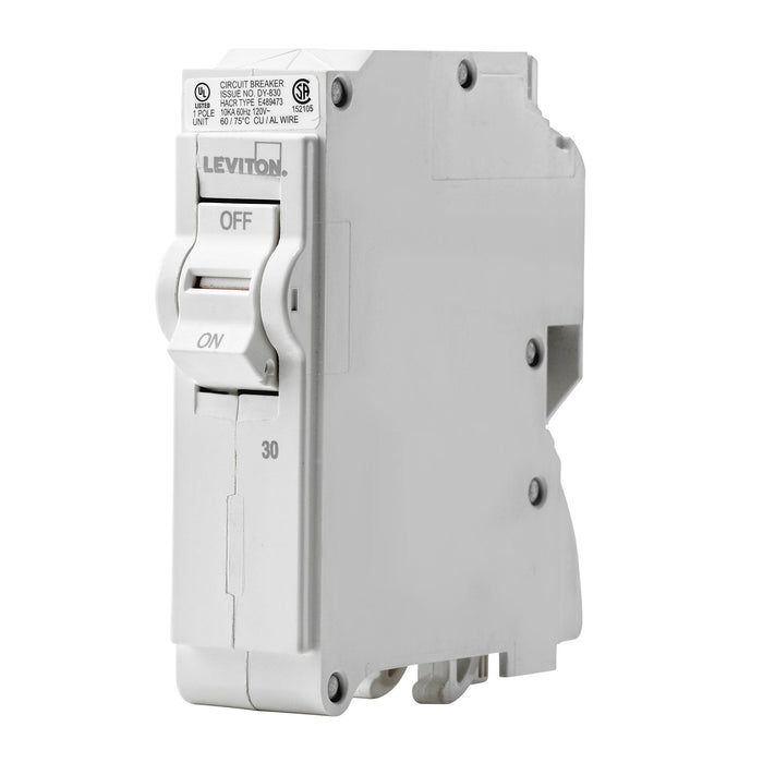 Leviton Standard Circuit breakers are engineered to the highest standards so you can feel confident with every installation. Branch circuit breakers are easily plugged-on at final installation and feature LED colour indicators in the handle so user can easily see operational status at-a-glance. UPC: 078477814451