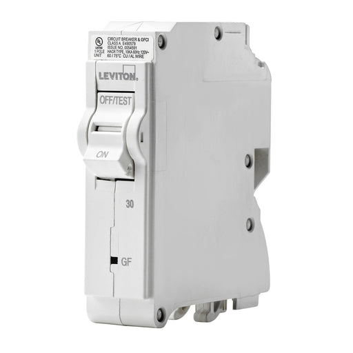 Leviton has channeled their patented technology into the development of GFCI Circuit Breakers; resulting in two industry-leading solutions to help protect against shock and electrocution. Leviton GFCI circuit breakers have reset/lockout functionality and prevent reset of the device if it is not wired or operating correctly. UPC: 078477814659