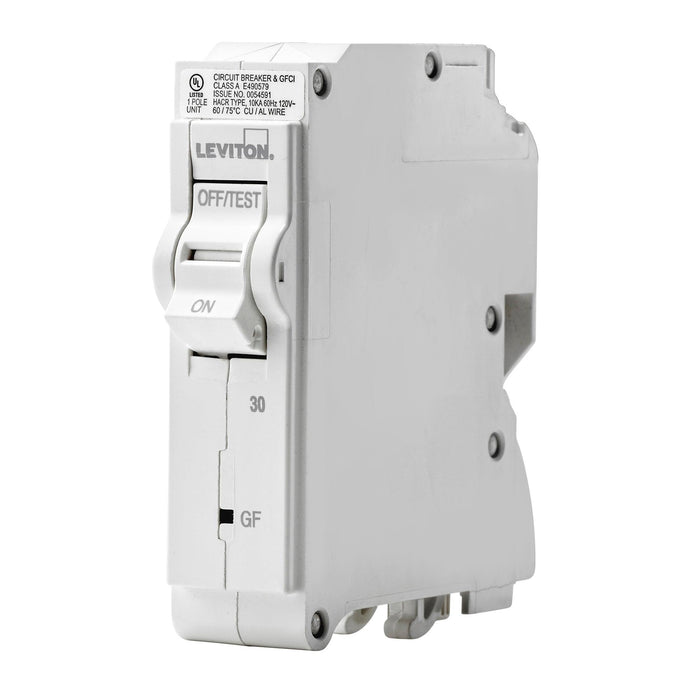 Leviton Circuit Breakers provide overload and short-circuit protection and feature an all plug-on design. GFPE circuit breakers provide protection of equipment from damaging line-to-ground fault currents by operating to cause a disconnecting means, to open all ungrounded conductors of the faulted circuit. UPC: 078477814758