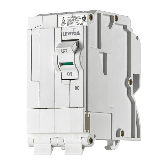 Leviton Standard Circuit breakers are engineered to the highest standards so you can feel confident with every installation. All hot and neutral wires terminate at custom lugs in the panel, not at the circuit breaker, so the entire panel can be wired at rough-in without circuit breakers installed. SKU# LB200, UPC 078477814550