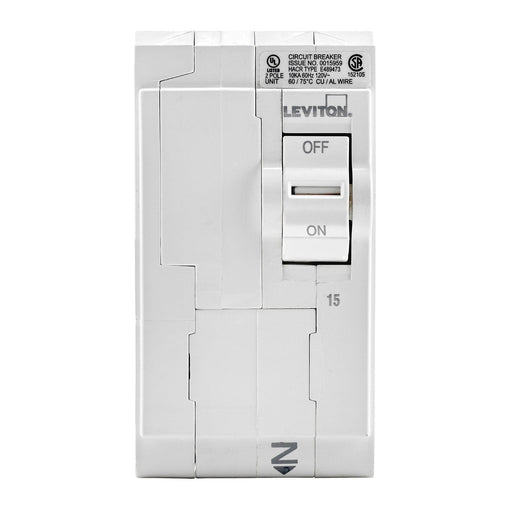 Leviton Standard Circuit breakers are engineered to the highest standards so you can feel confident with every installation. All hot and neutral wires terminate at custom lugs in the panel, not at the circuit breaker, so the entire panel can be wired at rough-in without circuit breakers installed. Model: LB215 UPC 078477856529