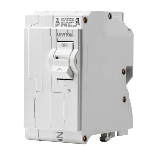Branch circuit breakers are easily plugged-on at final installation and feature LED colour indicators in the handle so user can easily see operational status at-a-glance. Model: LB215 UPC 078477856529
