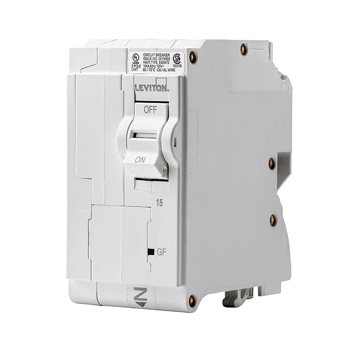 Leviton GFCI circuit breakers have reset/lockout functionality and prevent reset of the device if it is not wired or operating correctly. Model: LB215-GF UPC 07847781466
