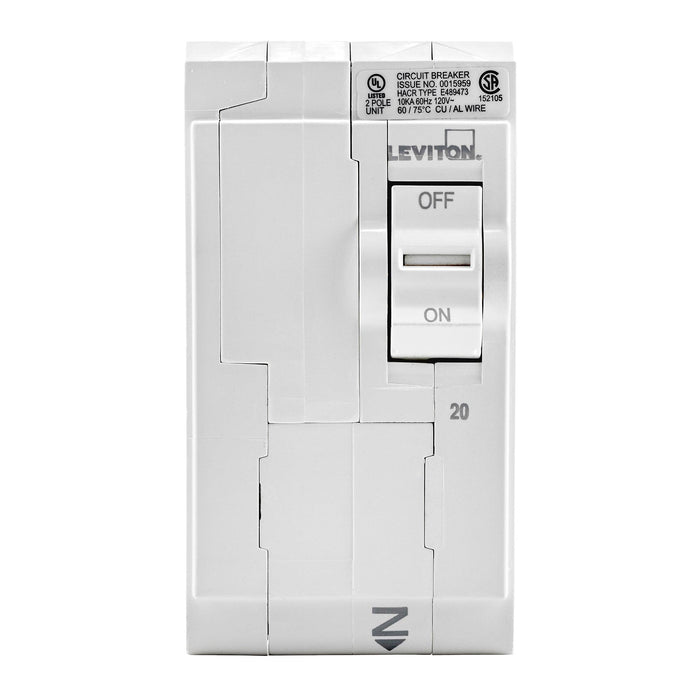 Leviton Circuit breakers are engineered to the highest standards so you can feel confident with every installation. All hot and neutral wires terminate at custom lugs in the panel, not at the circuit breaker. Model: LB220 UPC 078477814475