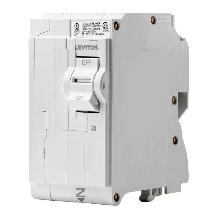 Branch circuit breakers are easily plugged-on at final installation and feature LED colour indicators in the handle so user can easily see operational status at-a-glance. Model: LB220 UPC 078477814475