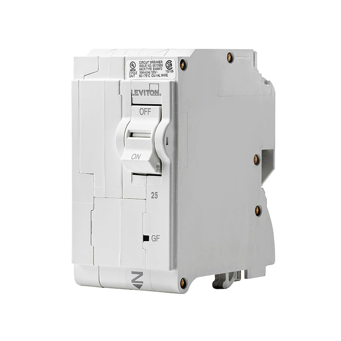 Leviton GFCI circuit breakers have reset/lockout functionality and prevent reset of the device if it is not wired or operating correctly. SKU# LB225003, LB225-GF UPC 078477814710