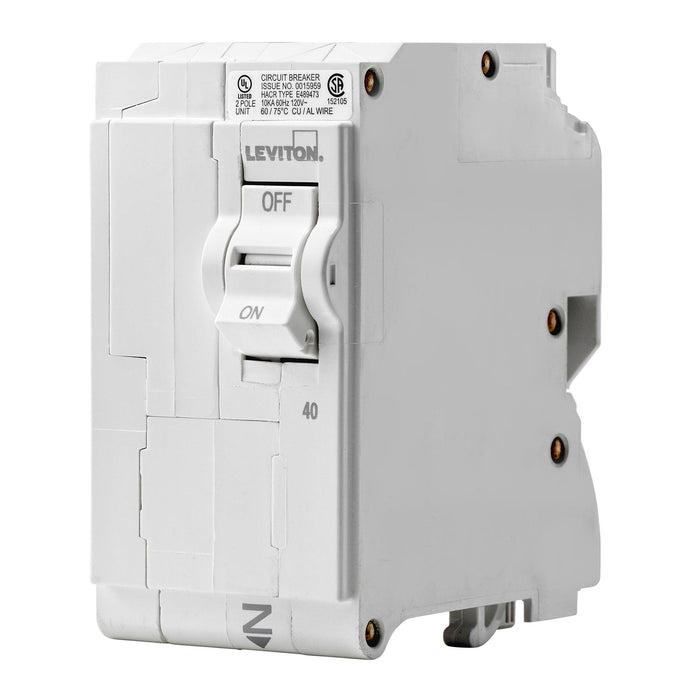 Branch circuit breakers are easily plugged-on at final installation and feature LED colour indicators in the handle so user can easily see operational status at-a-glance. Model: LB240 UPC 078477814468