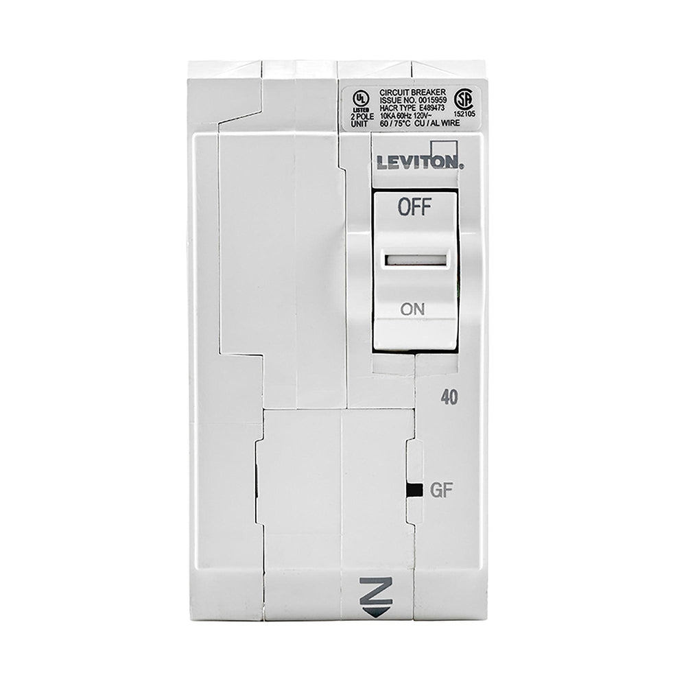 Leviton has channeled their patented technology into the development of GFCI Circuit Breakers; resulting in two industry-leading solutions to help protect against shock and electrocution. Model: LB240-GF UPC 07847781464