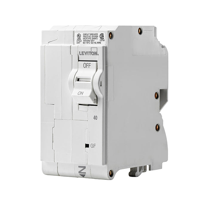 Leviton GFCI circuit breakers have reset/lockout functionality and prevent reset of the device if it is not wired or operating correctly. Model: LB240-GF UPC 07847781464