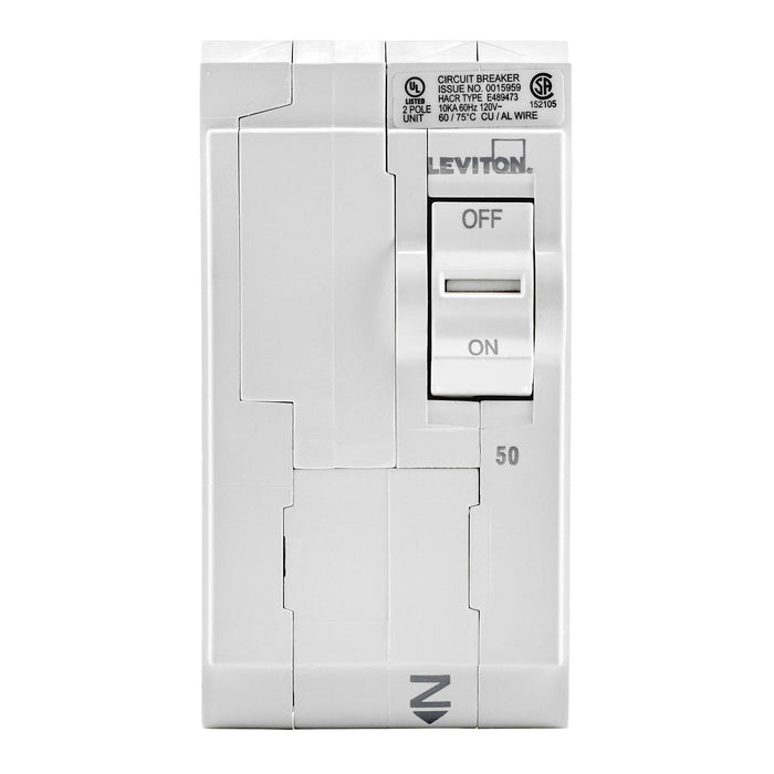 Leviton Circuit breakers are engineered to the highest standards so you can feel confident with every installation. Branch circuit breakers are easily plugged-on at final installation and feature LED colour indicators in the handle so user can easily see operational status at-a-glance. Model: LB250 UPC 078477814437