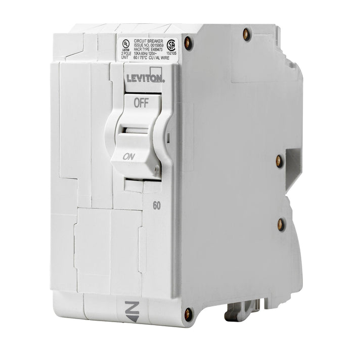 Branch circuit breakers are easily plugged-on at final installation and feature LED colour indicators in the handle so user can easily see operational status at-a-glance. Model: LB260 UPC: 078477814543
