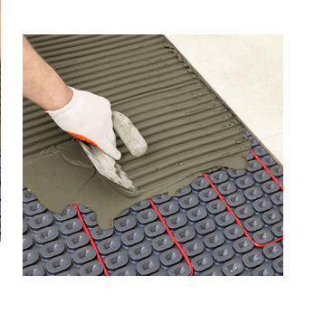 nVent NUHEAT Membrane is a tile underlayment that can be installed over the entire subfloor for uncoupling, crack isolation and waterproofing purposes and can eliminate the need for a second layer of plywood or concrete backer board. SKU#: NUHNUMEM250  UPC: 715629008688