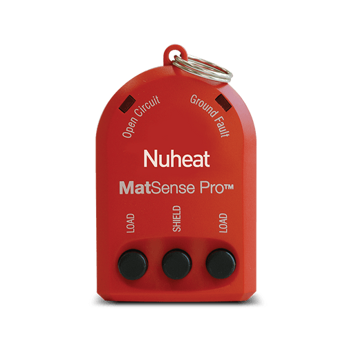 nVent NUHEAT Floor Heating Matsense Pro - Use an electric fault indicator to ensure a correct NUHEAT installation every time. SKU: NUHAC0100 UPC: 620713001615