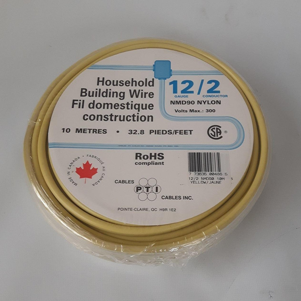 Household Building Wire NMD90 12/2 10m Yellow
