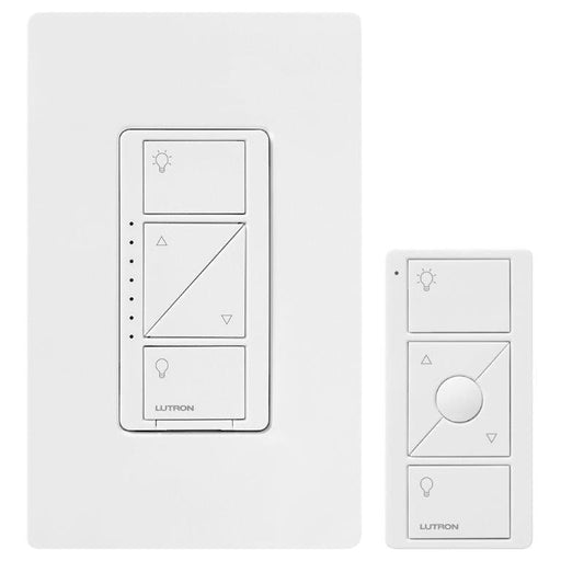 The Caseta Wireless Dimmer with Pico Remote Kit offers a one touch dimming control from anywhere around your home, customize your lighting for any activity. SKU#: PPKG1WWHC UPC:784276072298