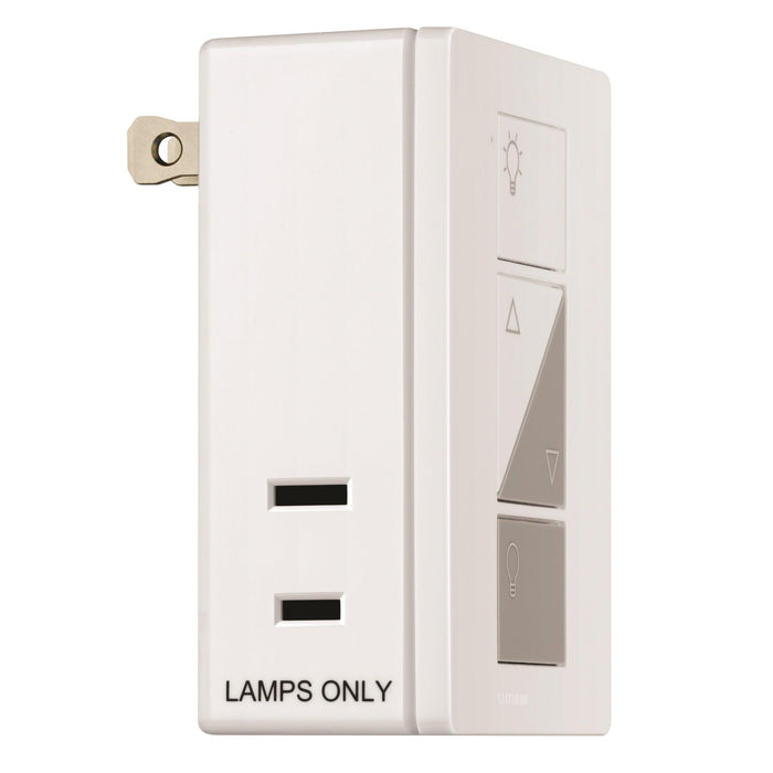 Experience a system that delivers convenience and ease of installation. The Caseta Wireless Plug-in Lamp Dimmer control lamp loads directly and remotely when you pair your Caseta Wireless Plug-In Lamp Dimmer with Pico remote controls. SKU: LUTPD3PCLWHC  UPC: 784276072281