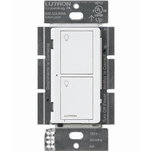The Caseta Wireless Switch replaces an existing switch and installs in 3 easy steps in as little as 15 minutes. It's clean white finish allows it to blend in with any decor and offers easy control with its large On/Off buttons. SKU# PD-6ANS WH  UPC: 784276152808