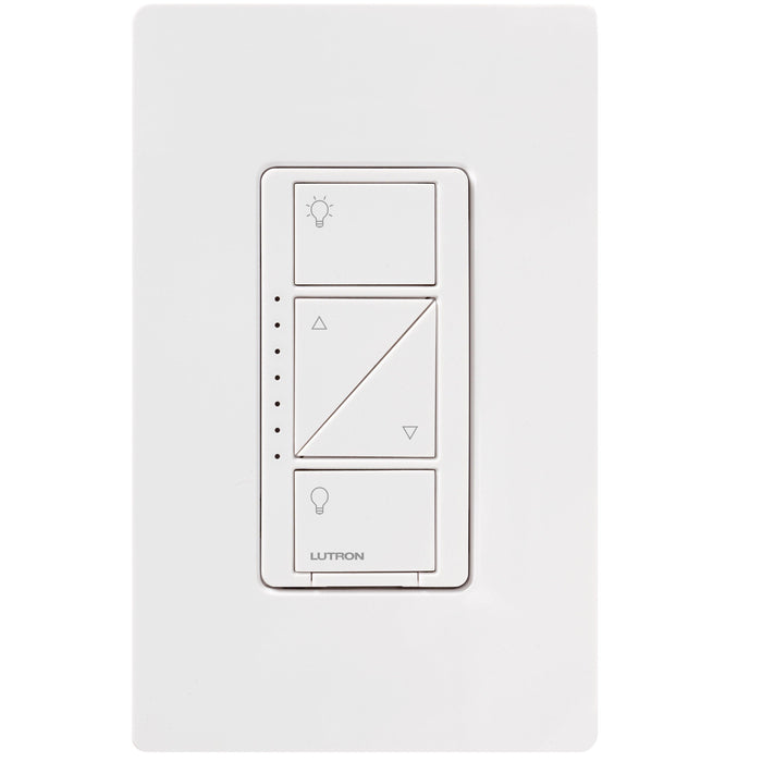 The Caseta Wireless Dimmer is a smart lighting control system it allows you to easily adjust the lighting in your home with the two increase/decrease buttons or with your Smartphone assistant. It is easy to use, easy to install and can control up to 17 bulbs. SKU# PD-6WCL  UPC: 784276071987