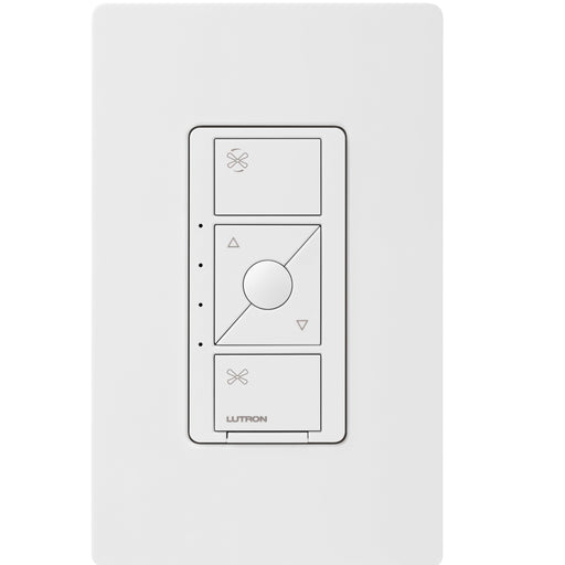 The Caseta Wireless Smart Fan Speed Control allows you to control your ceiling fan from the wall switch or your Smartphone. SKU: PD-FSQN-WH  UPC: 784276260794