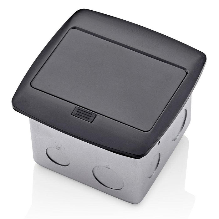 Pop-Up Floor Box with Dual Type A, 3.6 Amp USB Charger, 15 Amp Outlet PFUS1-MB