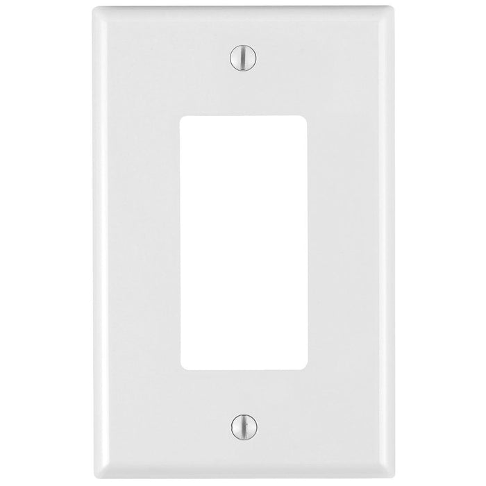 1 Gang Midway Decora/ GFCI device Wallplates offer a simple clean aesthetic look; with rounded edges and a smooth finish making it dust resistant. These wall plates easily blend in with any decor, are easy to install and economically priced. UPC: 078477153611