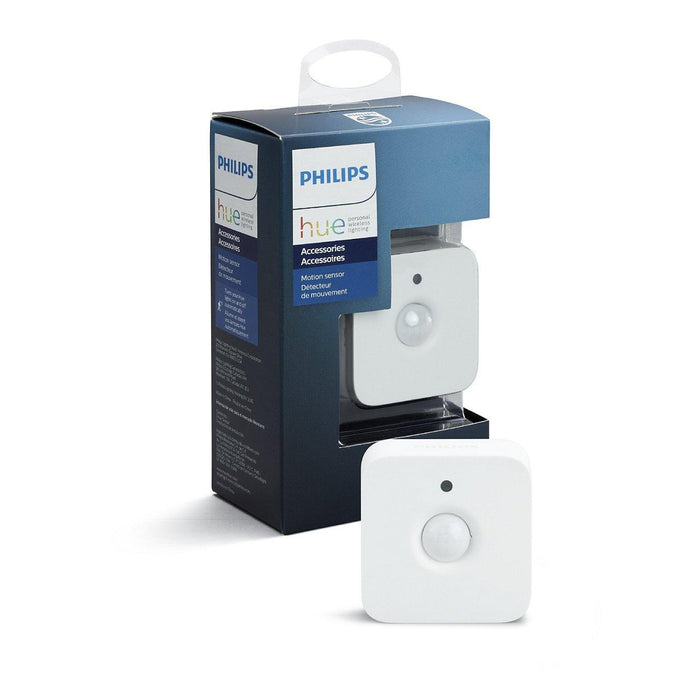 Add a Philips Hue motion sensor to your smart lighting system to automatically switch your lights on when movement is detected, helping you navigate safely through your home. SKU: PHI473389  UPC: 046677473389