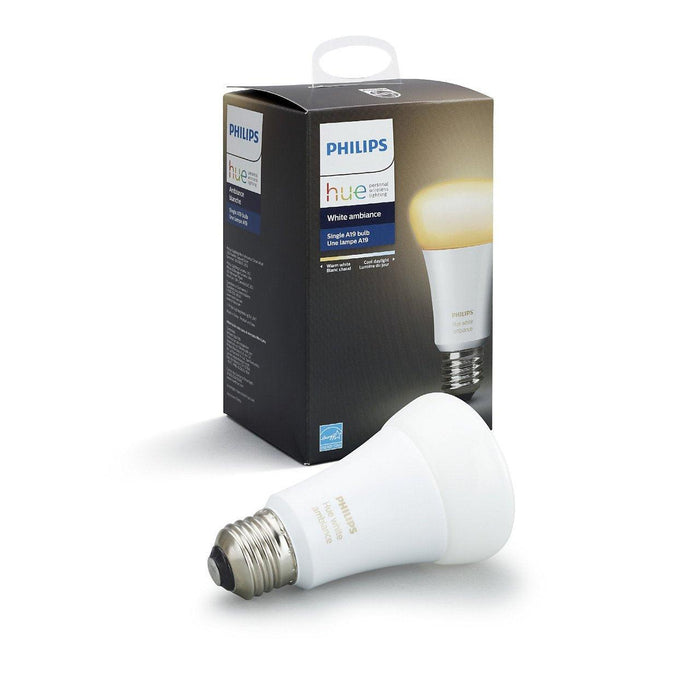 Get warm to cool white light in your home with this single smart white ambiance light bulb. Connect to the Hue Bridge to unlock the full smart lighting control and features. SKU: SIG461004  UPC: 046677461003