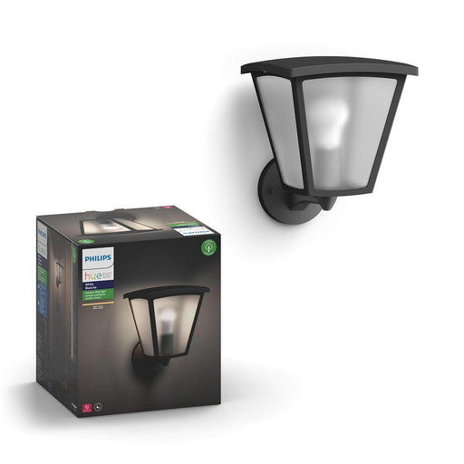 The Inara outdoor wall lantern is a traditional fixture that offers the smart lighting capabilities of Philips Hue. Connect to the Hue Bridge and set your lights to turn on when you near home or automate your lights to mimic your presence. SKU: PHI802033 UPC: 046677802035