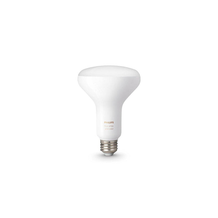 The Hue White and Colour BR30 was made to light larger areas, this single flood light bulb brings millions of colors to any room in your home.  SKU: PHI468942 UPC:  046677468941