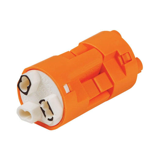 PowerPlug Luminaire Disconnect quickly locks wires in place and helps reduce electrical shock hazard during ballast replacement by safely disconnecting hot and neutral ballast wiring, thus provides additional safety. SKU: IDE30383X   UPC: 783250702664