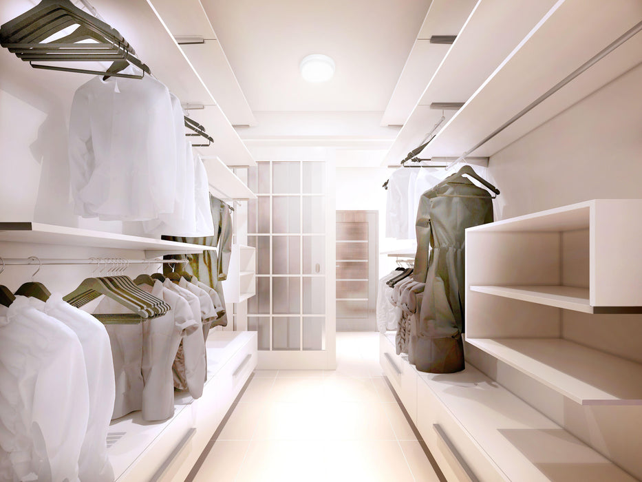 RAB Design Spacelite-SPLR Closet Application- SKU: RABSPLR1LED12A4KSMS, RAB80085 UPC: 061184800855