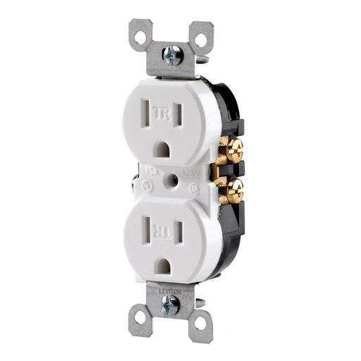 Levition's tamper resistant duplex outlets are NEC compliant and can be used in residential properties, schools, offices and other locations. SKU#: T5320752 T5320-W UPC: 078477406595 078477381618