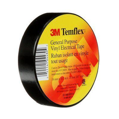 3M™ Temflex™ General Use Vinyl Electrical Tape is the solution for less demanding indoor jobs. This black, 7-mil, economy-grade vinyl tape is designed for general purpose applications. SKU#: MMMTEMFLEX UPC: 051141044804