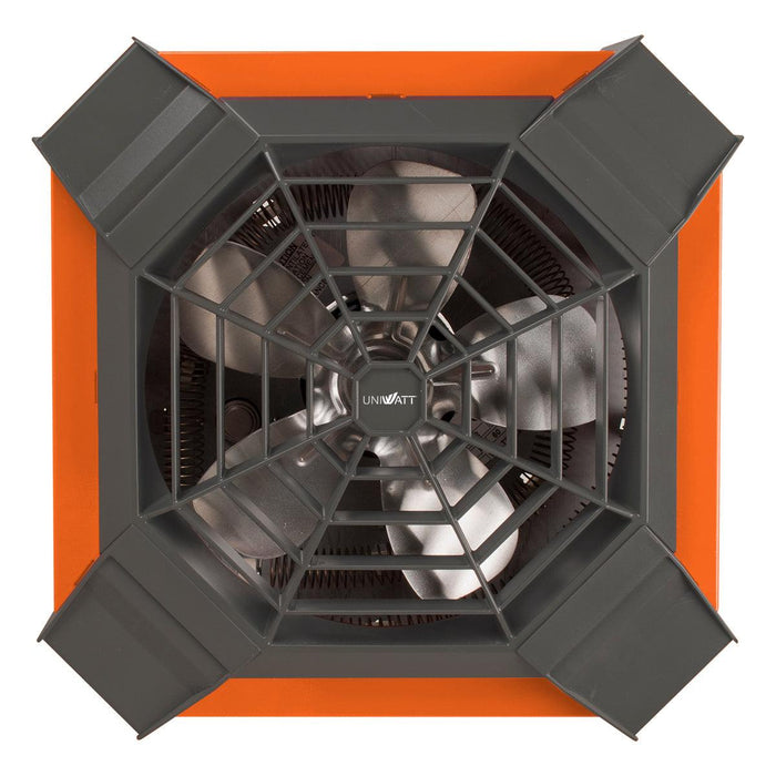 The UGH ceiling fan heater combines optimum performance, instant heat, and a low noise level, all this in a distinctive design. SKU: STEUGH4002 UPC: 626296225523