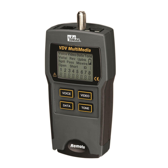 An all-in-one basic Voice-Data-Video tester for verifying proper wiring of low-voltage and data communications cables. SKU#: 33856 UPC: 783250585359
