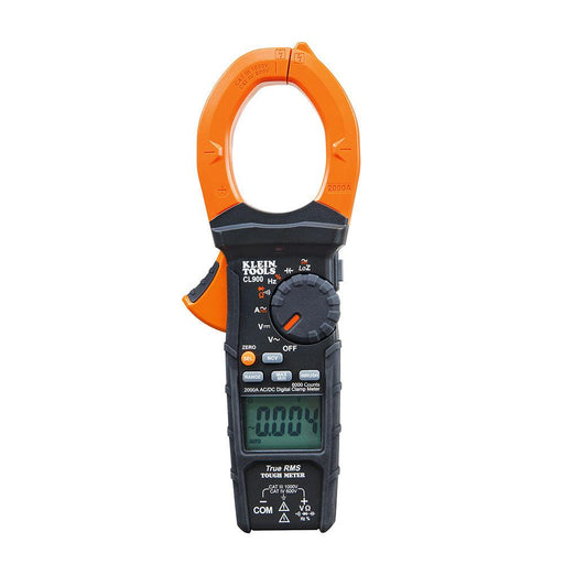 The CL900 is an auto-ranging, true root mean square (TRMS) digital clamp meter that measures AC/DC current via the clamp and measures AC/DC voltage, resistance, continuity, frequency, duty-cycle, capacitance, and tests diodes via test-leads. SKU: KLECL900 UPC: 092644692352